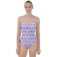 Royal1 White Marble & Purple Colored Pencil Sweetheart Tankini Set by trendistuff