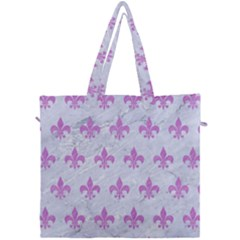 Royal1 White Marble & Purple Colored Pencil Canvas Travel Bag by trendistuff
