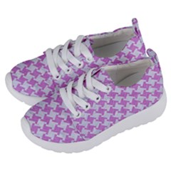 Houndstooth2 White Marble & Purple Colored Pencil Kids  Lightweight Sports Shoes by trendistuff