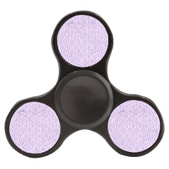 Hexagon1 White Marble & Purple Colored Pencil (r) Finger Spinner by trendistuff