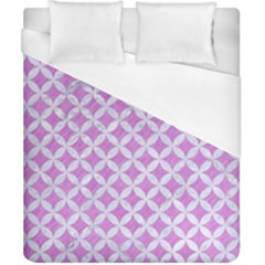 Circles3 White Marble & Purple Colored Pencil Duvet Cover (california King Size) by trendistuff