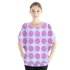 Circles1 White Marble & Purple Colored Pencil (r) Blouse