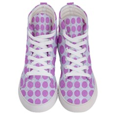 Circles1 White Marble & Purple Colored Pencil (r) Men s Hi Top Skate Sneakers