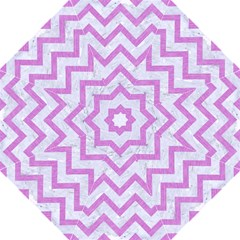 Chevron9 White Marble & Purple Colored Pencil (r) Hook Handle Umbrellas (large) by trendistuff