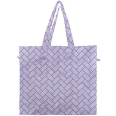 Brick2 White Marble & Purple Colored Pencil (r) Canvas Travel Bag by trendistuff