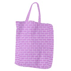Brick1 White Marble & Purple Colored Pencil Giant Grocery Zipper Tote by trendistuff