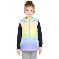 Pastelrainbowgalaxy Kid s Hooded Puffer Vest
