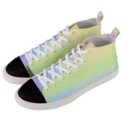 Pastelrainbowgalaxy Men s Mid Top Canvas Sneakers by RingoHanasaki