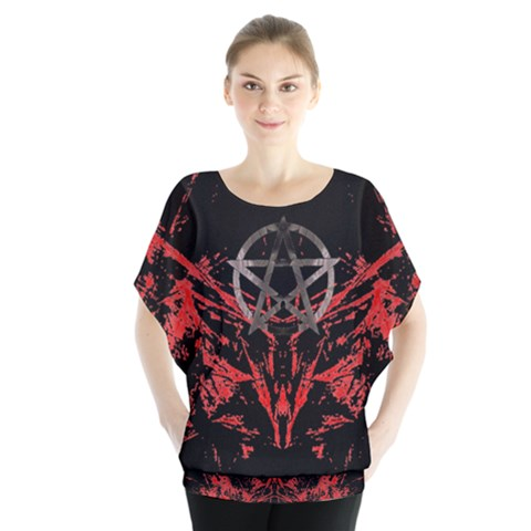 Ghost Gear   Prophecy   Batwing Chiffon Blouse by GhostGear