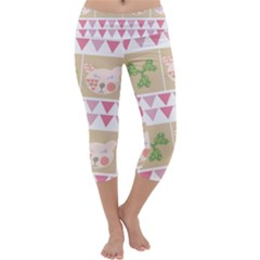 Cats Capri Yoga Leggings by luizavictorya72