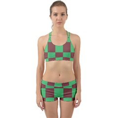 Background Checkers Squares Tile Back Web Gym Set