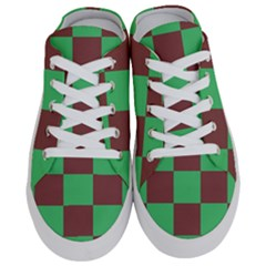 Background Checkers Squares Tile Half Slippers
