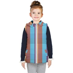 Background Desktop Squares Kid s Hooded Puffer Vest