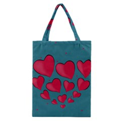 Background Desktop Hearts Heart Classic Tote Bag
