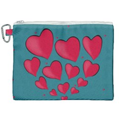 Background Desktop Hearts Heart Canvas Cosmetic Bag (xxl) by Sapixe