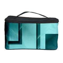 Green Figures Rectangles Squares Mirror Cosmetic Storage Case by Sapixe