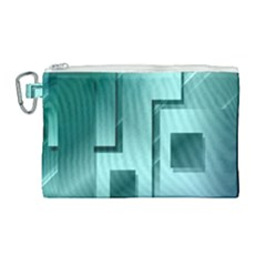 Green Figures Rectangles Squares Mirror Canvas Cosmetic Bag (large) by Sapixe