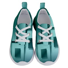 Green Figures Rectangles Squares Mirror Running Shoes
