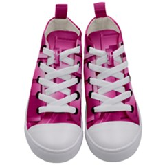 Pink Figures Rectangles Squares Mirror Kid s Mid Top Canvas Sneakers