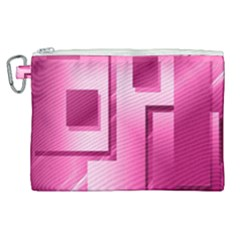 Pink Figures Rectangles Squares Mirror Canvas Cosmetic Bag (xl)