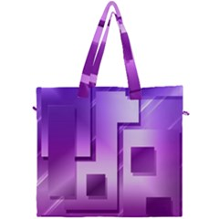 Purple Figures Rectangles Geometry Squares Canvas Travel Bag by Sapixe
