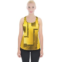 Yellow Gold Figures Rectangles Squares Mirror Piece Up Tank Top