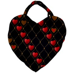 Background Texture Texture Hearts Giant Heart Shaped Tote by Sapixe