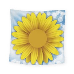 Plant Flower Flowers Bokeh Sky Square Tapestry (small) by Sapixe
