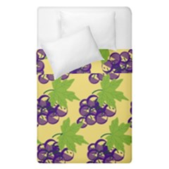 Grapes Background Sheet Leaves Duvet Cover Double Side (single Size) by Sapixe