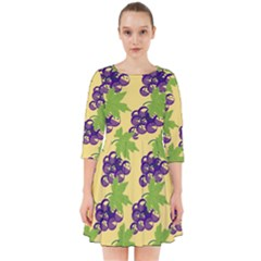 Grapes Background Sheet Leaves Smock Dress by Sapixe