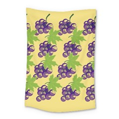 Grapes Background Sheet Leaves Small Tapestry by Sapixe
