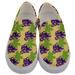 Grapes Background Sheet Leaves Men s Canvas Slip Ons