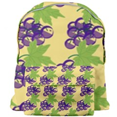 Grapes Background Sheet Leaves Giant Full Print Backpack by Sapixe