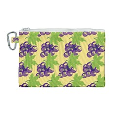Grapes Background Sheet Leaves Canvas Cosmetic Bag (large) by Sapixe
