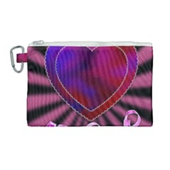 Background Texture Reason Heart Canvas Cosmetic Bag (large)