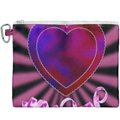 Background Texture Reason Heart Canvas Cosmetic Bag (xxxl) by Sapixe