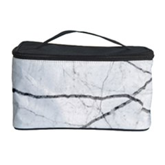 White Background Pattern Tile Cosmetic Storage Case