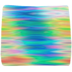 Wave Rainbow Bright Texture Seat Cushion by Sapixe