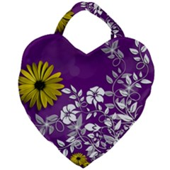 Background Bokeh Ornament Card Giant Heart Shaped Tote by Sapixe