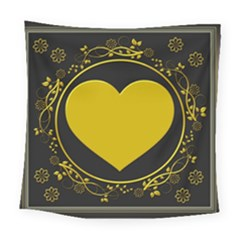 Background Heart Romantic Love Square Tapestry (large) by Sapixe