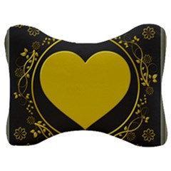Background Heart Romantic Love Velour Seat Head Rest Cushion by Sapixe
