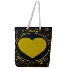 Background Heart Romantic Love Full Print Rope Handle Tote (large)