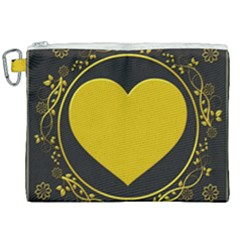 Background Heart Romantic Love Canvas Cosmetic Bag (xxl) by Sapixe