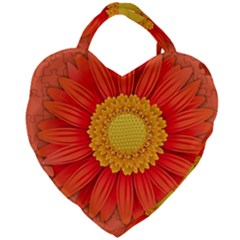 Flower Plant Petal Summer Color Giant Heart Shaped Tote by Sapixe