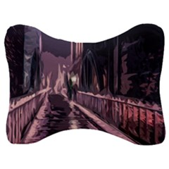Texture Abstract Background City Velour Seat Head Rest Cushion