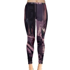 Texture Abstract Background City Inside Out Leggings