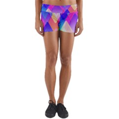 Squares Color Squares Background Yoga Shorts