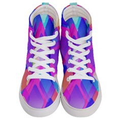 Squares Color Squares Background Women s Hi Top Skate Sneakers