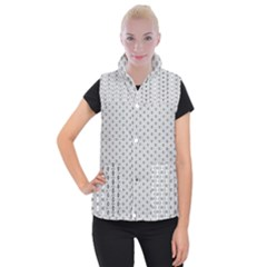 Geometric Pattern Light Women s Button Up Vest
