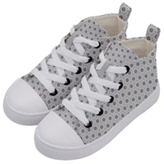 Geometric Pattern Light Kid s Mid Top Canvas Sneakers by jumpercat